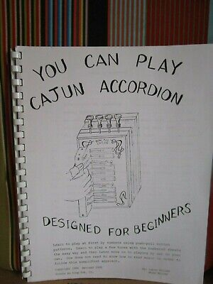 YOU CAN PLAY CAJUN ACCORDION FOR BEGINNERS 96 pgs MUSIC BOOK NOS