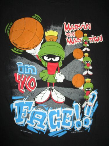 Looney Tunes MARVIN the MARTIAN In Your Face (LG) Shirt SPACE JAM Michael Jordan