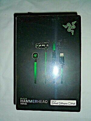 "Razor Hammerhead Gaming Earphones For IOS (RZ04-0290100-R3G1) ""NEW"""
