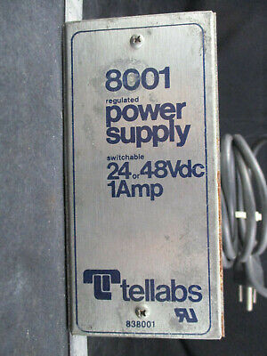 838001 Switchable 24 or 48 Vdc 1amp TELLABS 8001 Regulated Power Supply
