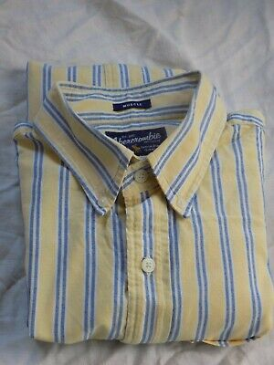 Abercrombie and Fitch STRIPED  Mens Muscle Shirt XL 100%COTTON