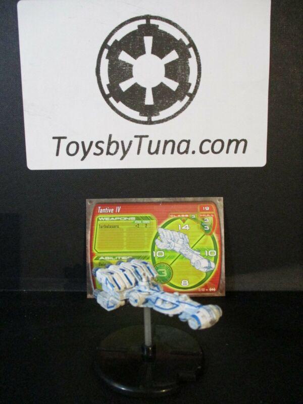 Star Wars Miniatures Starship Battles Tantive IV SSB Leia w/ Card mini RPG