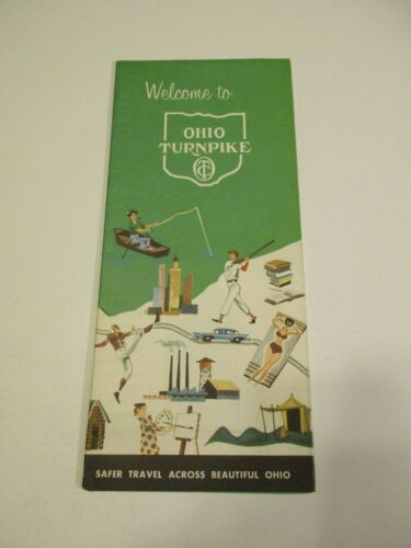Vintage Welcome to Ohio Turnpike Travel Road Map~Box 5