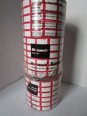 17 Rolls Total Paxar Monarch 1100 Series Senso Labels For Label Gun