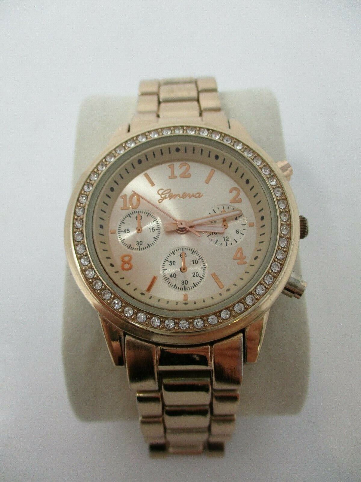 Geneva Women's Rose Gold Watch With Crystal Accents
