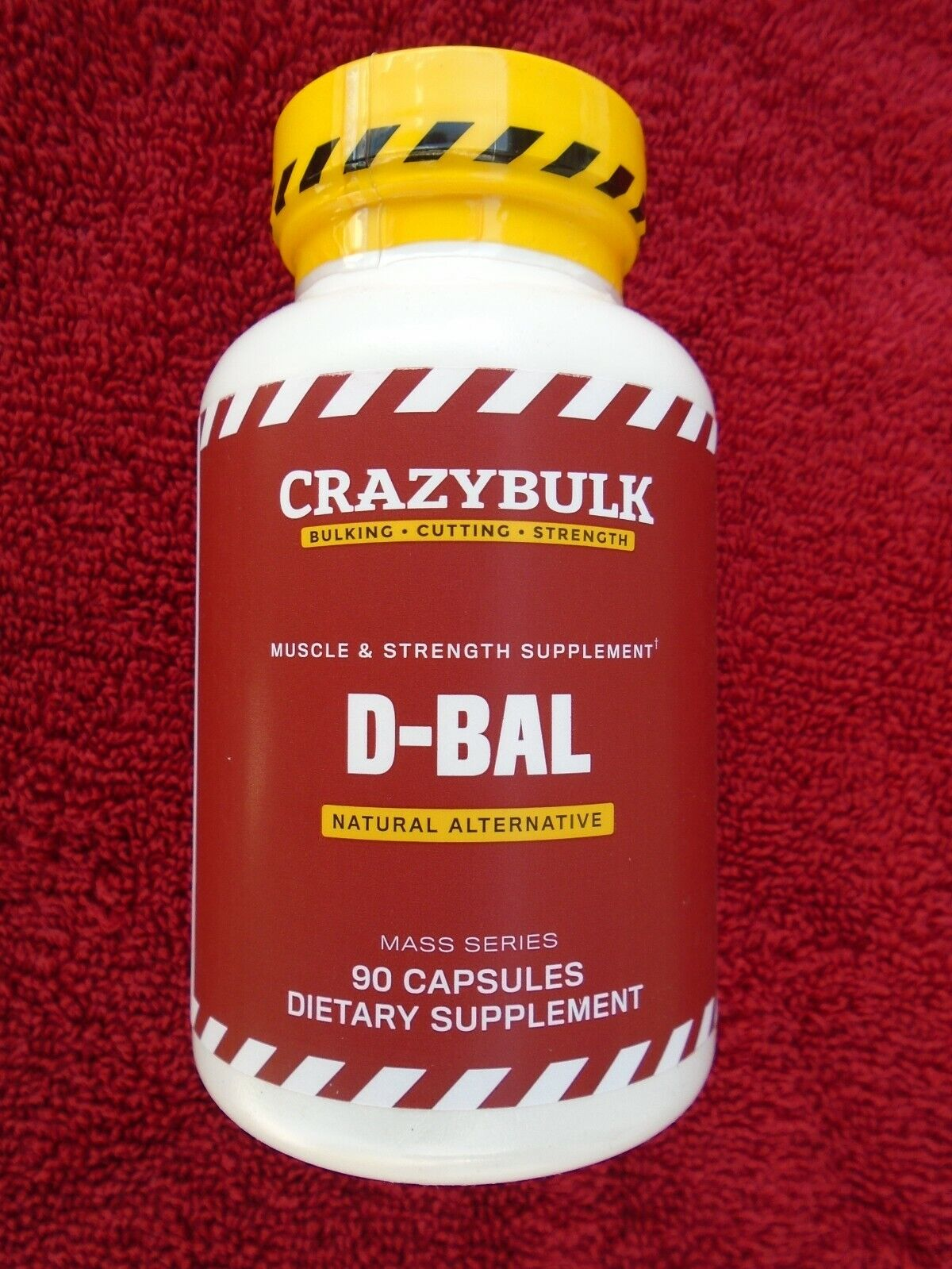 """D-BAL"" MUSCLE & STRENGTH SUPPLEMENT Natural Alternative 90 Caps. NEW & Sealed!!"