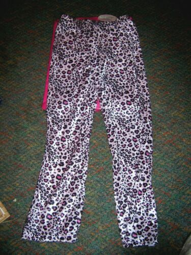 NWT DOTTIE LOVES (made in USA) Pink/Black Animal Print Dancewear Pants - SIZE S