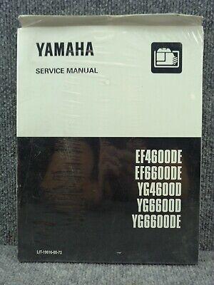 Oem Yamaha Generator Ef4600de Ef6600de Yg4600d Yg6600d Yg6600de Service Manual