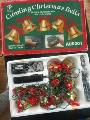 Vintage Ye Merrie Minstrel Musical 12 Caroling Christmas Bells 47 Carols AUS201