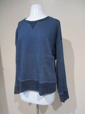 Gap Blue Denim Long Sleeve Pullover Pocket Shirt Top Blouse Sz Xxl