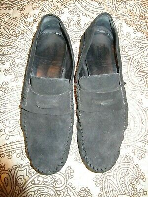 GUCCI UK 7.5 EU 41 BLACK SUEDE DRIVING SHOES MOCCASINS  RRP £480.00 for sale  Shipping to South Africa