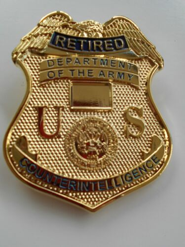 """US Army COUNTERINTELLIGENCE  (ACI)  """"RETIRED"""" Badge . With pins"""