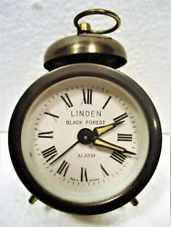 SMALL TRAVEL ALARM, LINDEN BLACK FOREST, GERMANY, CUCKOO CLOCK MFG CO EARLY 20TH
