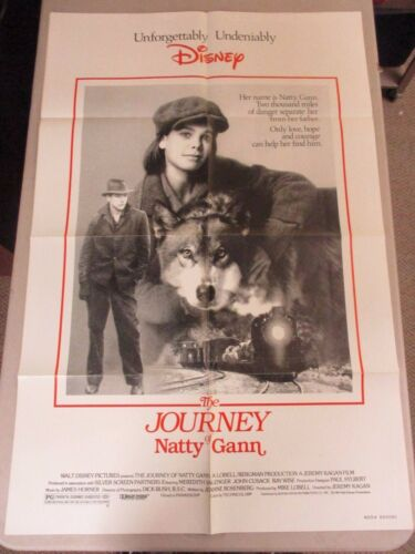 Vtg 1 sheet 27x41 Movie Poster The Journey of Natty Gann 1985 WALT DISNEY
