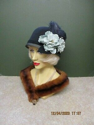 Ladies Vintage Style 1920's Hat -  Cloche - Flapper -,Peaky Blinders
