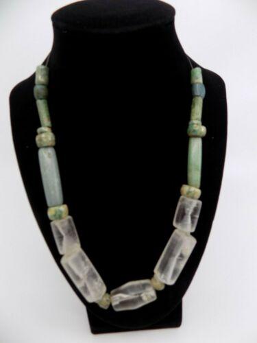 Pre-Columbian Jade and Crystal Quartz Necklace