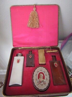 Amazing large 6 piece DuBarry, Richard Hudnut boxed perfume set, all sealed