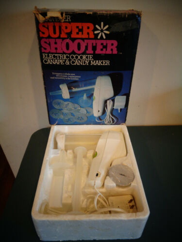 WEAR-EVER SUPER SHOOTER ELECTRIC COOKIE CANAPE & CANDY MAKER 70001