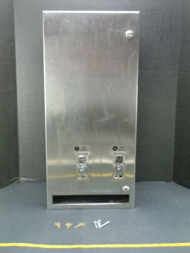 American Specialties ASI Sanitary Napkin & Tampon Dispenser 0864 25¢ w Keys CS2