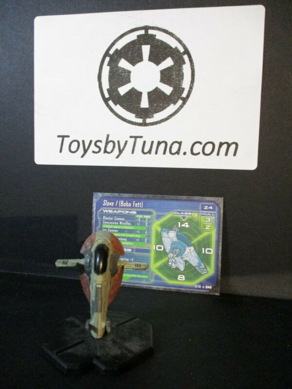 Star Wars Miniatures Starship Battles Slave I (Boba Fett) SSB w/ Card mini RPG