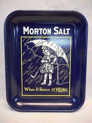 """Morton Salt """"When It Rains IT POURS"""" Snack Serving Tray 13"""" x 10"""""""
