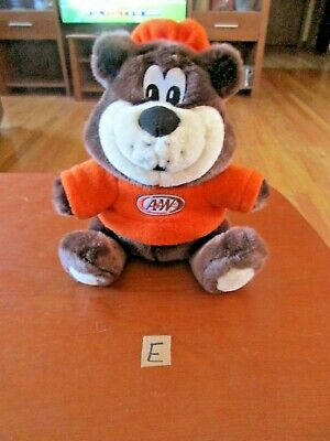"2002 A & W Root Beer Bear All American Food 9"" Bear"