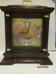 Seiko QXJ004BLH Mantel Chime Carriage Clock with Hand-Rubbed Finish brand new
