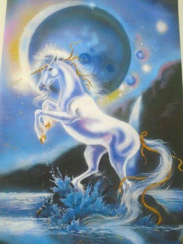 """Unicorn """"1995"""" / Beautiful Art Poster #1215 / GALAXY / New cond. - 23 x 35"""""""