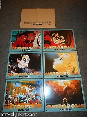 METROPOLIS - ORIGINAL SET OF 6 FRENCH LOBBY CARDS - 2002 - TEZUKA