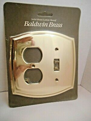 Baldwin Solid Brass Colonial Design Electrical Outlet Switch Plate #4767 ()
