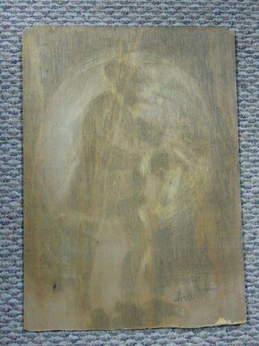 ANDREW TURNER Painting Charcoal Sandpaper Rubbing Jazz Club Saxophone Sax Player