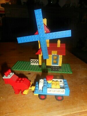 VINTAGE LEGO 1976 WEETABIX  PRMO WINDMILL WITH HORSE AND CARD + INSTRUCTIONS