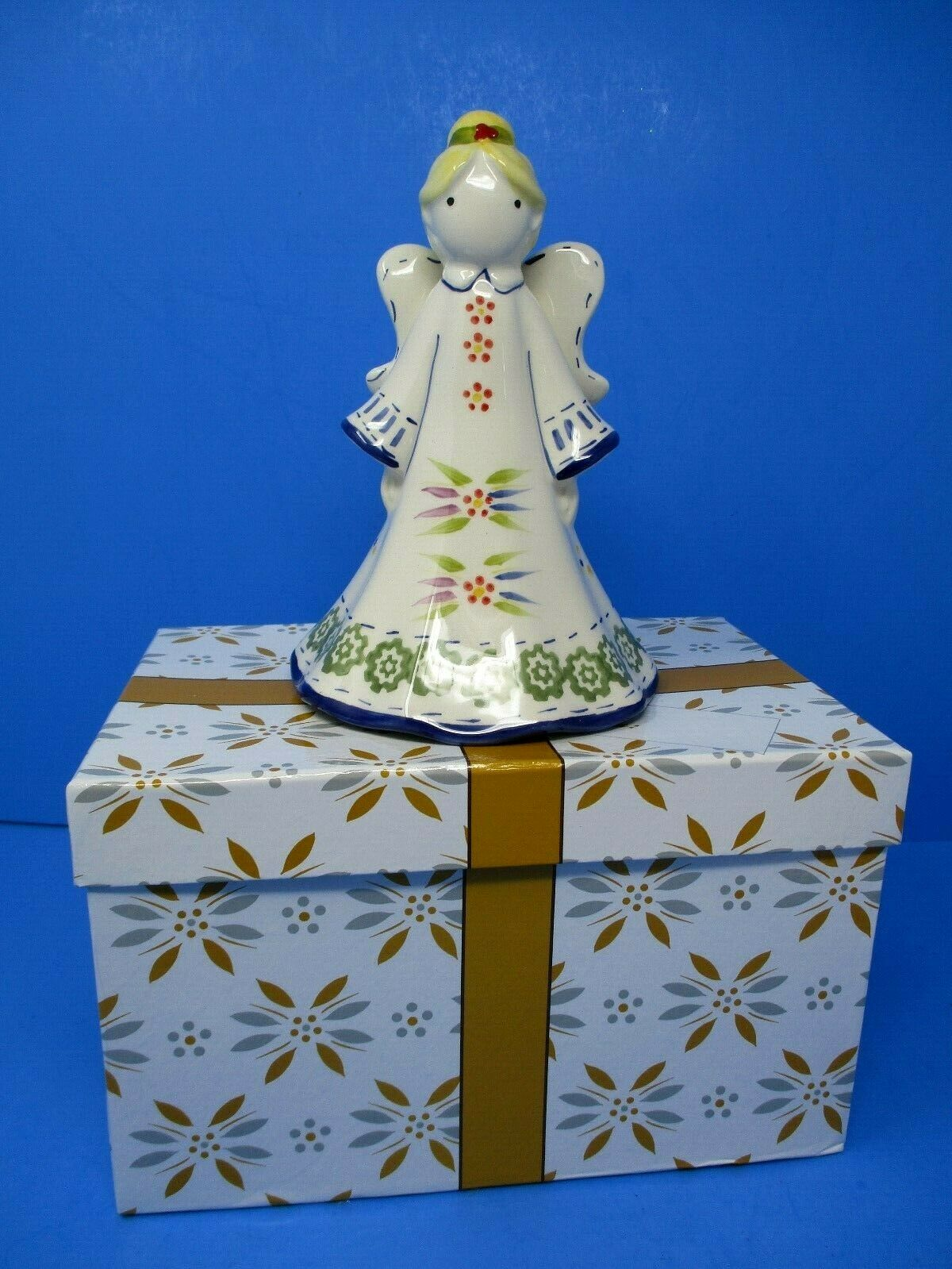 Temp-tations Old World Figural Angel Bell With Gift Box