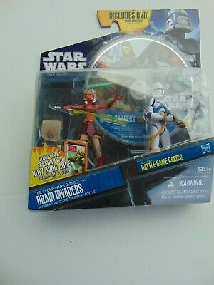 2010 STAR WARS CLONE WARS BRAIN INVADERS AHSOKA TROOPER SCYTHE BRAND NEW