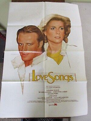 Vintage 1 sheet 27x41 Movie Poster Love Songs 1985 Catherine Deneuve