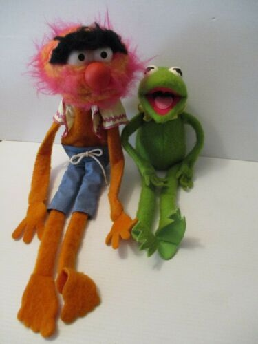 Vintage Muppet Animal 1978 Puppet 854 & Fisher Price Kermit the Frog 850