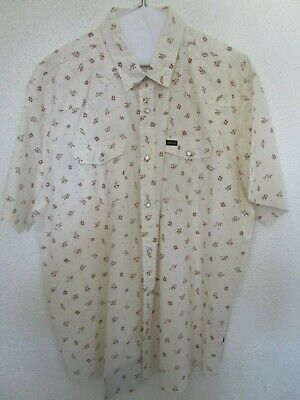 XL Howler Brothers H Bar C Vintage Floral Pearl Snap Shirt Western Cowboy Rodeo