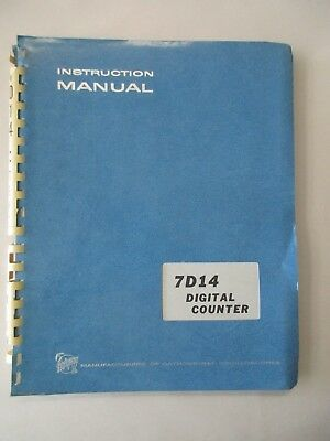 Tektronix 7d14 Digitial Counter Instruction Service Manual 070-1097-00