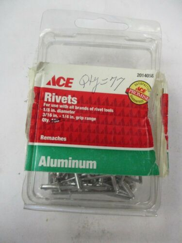 "New ACE 2014058 1/8"" Aluminum Grip Range Rivets (QTY 77)"