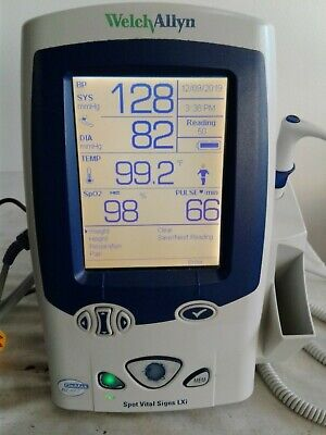 Welch Allyn Lxi 45nto Spot Vital Signs Monitor Nibp Temp Spo2 W Cuff Size 11 2