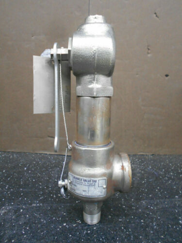 "KUNKLE 910BDCM06ALE 1/2"" STAINLESS STEEL SAFETY RELIEF VALVE"