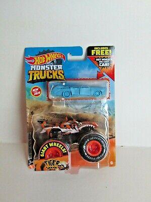 Hot Wheels Monster Trucks Tiger Shark with Free Car
