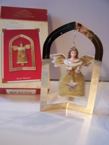 g  HALLMARK KEEPSAKE ORNAMENT   GLAD TIDINGS   ANGEL    2003