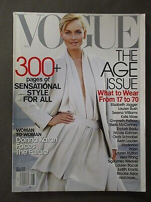 Vogue Magazine August 2001     Amber Valletta Cover