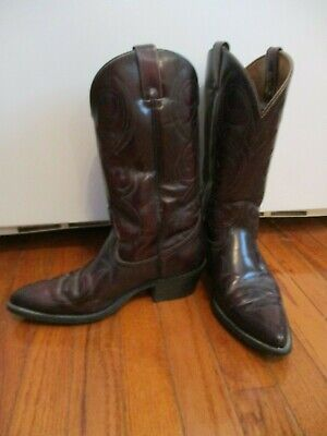 ACME Boots 4939 Mens Size 8D  Burgundy  Cowboy Western USA