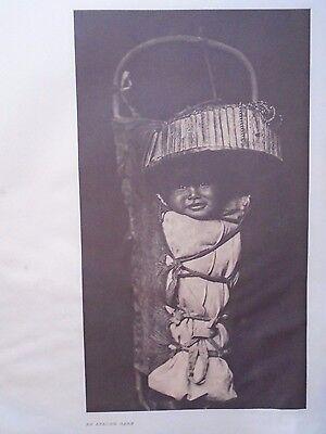 "An Apache Babe  by Edward S. Curtis - Original 14 X 18"" Photogravure"