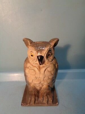 "Owl Cast Iron Sill Bank ""Vindex Toys"" 4 1/4"" USA 1930's Pristine"