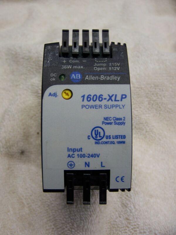 Allen Bradley Catalog 1606-XLP36C +/- 12 to 15VDC 2amp Power Supply