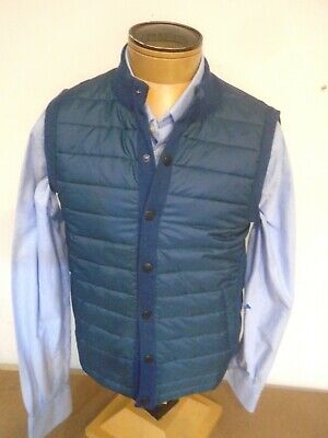 Barbour Essential Poly & Cotton Quilted Gilet Vest NWOT XL $159  Slate Blue