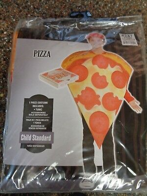 Kids Pizza Costume (Child's Pizza Costume Unisex 1 Piece Tunic 10 & under New)